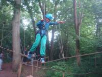 Fun on the low ropes at Sayers Croft